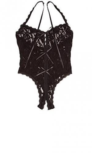 Боди lace open Hanky Panky. Цвет: черный