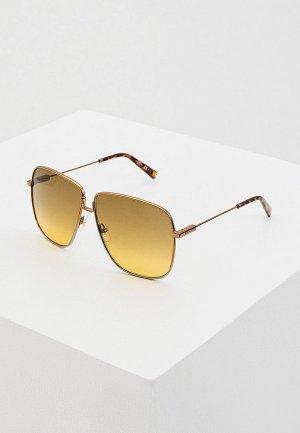 Очки солнцезащитные Givenchy GV 7183/S NCJ. Цвет: золотой