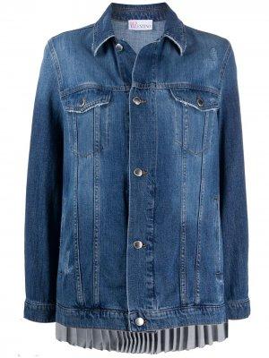 Джинсовая куртка со складками RED Valentino. Цвет: синий