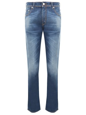 Хлопковые джинсы Baldessarini. Цвет: разноцветный