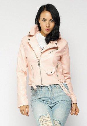 Куртка кожаная Bellart. Цвет: розовый