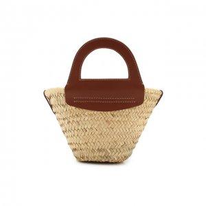 Сумка Cabas mini Hereu. Цвет: коричневый