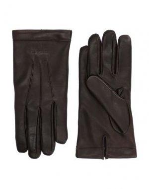 Перчатки ETRO. Цвет: темно-коричневый