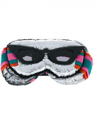 Солнцезащитные очки Eye Couture Mask Kuboraum. Цвет: серебристый