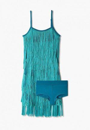 Платье AltraNatura для латино-американской программы. Цвет: бирюзовый