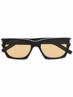 Солнцезащитные очки SL402 в квадратной оправе Saint Laurent Eyewear. Цвет: черный