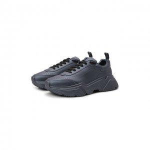 Кожаные кроссовки Daymaster Dolce & Gabbana. Цвет: синий