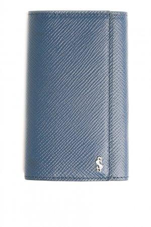 Ключница из синей сафьяновой кожи Serapian. Цвет: синий