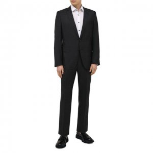 Шерстяной костюм BOSS. Цвет: чёрный