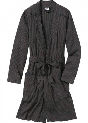 Халат банный bonprix. Цвет: серый