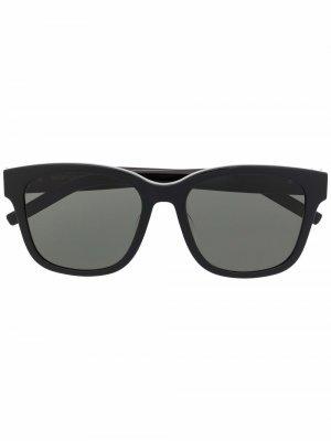 Солнцезащитные очки SL M95/F в квадратной оправе Saint Laurent Eyewear. Цвет: черный