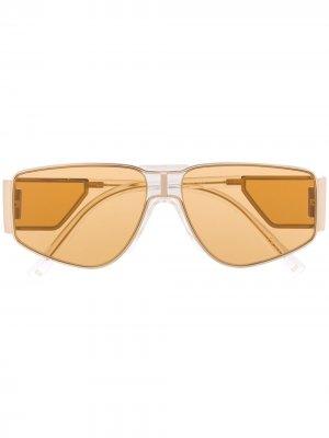 Солнцезащитные очки со вставками Givenchy Eyewear. Цвет: золотистый
