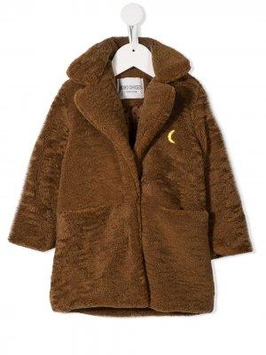Пальто из искусственной овчины Bobo Choses. Цвет: коричневый