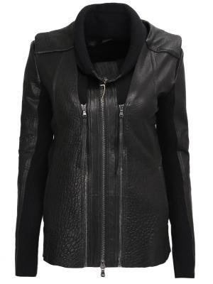 Кожаная куртка со вставками ILARIA NISTRI