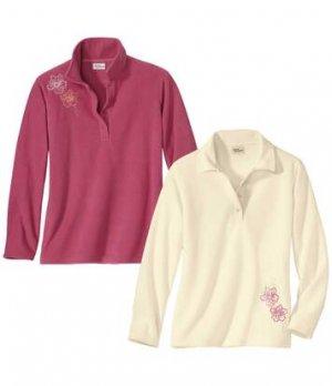 Комплект Поло из Микрофлиса с Вышивкой — 2 шт. Atlas For Men. Цвет: розовый
