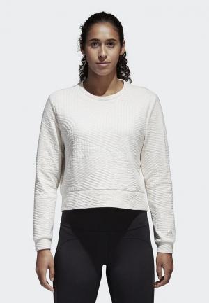 Свитшот adidas Perf Sweatshirt. Цвет: белый