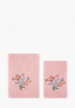 Набор полотенец Karna. Цвет: коралловый