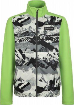Джемпер флисовый для мальчиков , размер 152 Glissade. Цвет: зеленый