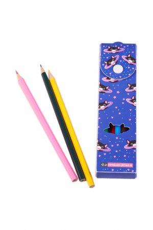 Пенал с карандашами, 12 шт Издательство Эксмо. Цвет: фиолетовый