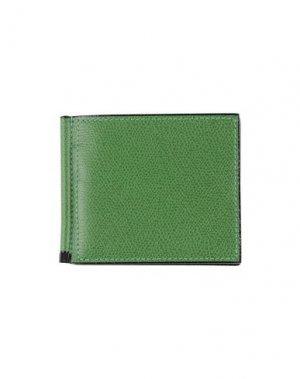 Чехол для документов VALEXTRA. Цвет: зеленый
