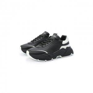 Кожаные кроссовки Daymaster Dolce & Gabbana. Цвет: чёрный