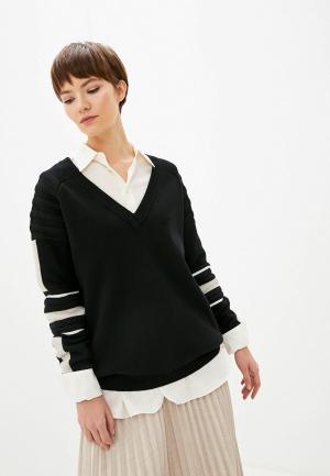 Пуловер Patrizia Pepe. Цвет: черный