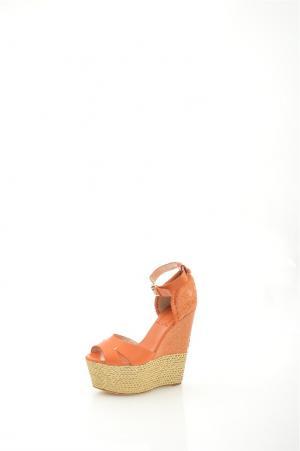 Босоножки Grand Style. Цвет: оранжевый