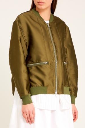 Куртка-бомбер оттенка хаки 3.1 Phillip Lim. Цвет: зеленый