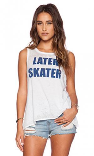 Майка-борцовка later skater Chaser. Цвет: белый