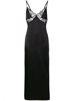Длинная сорочка Rita Gilda & Pearl. Цвет: черный