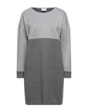 Короткое платье DEHA. Цвет: светло-серый