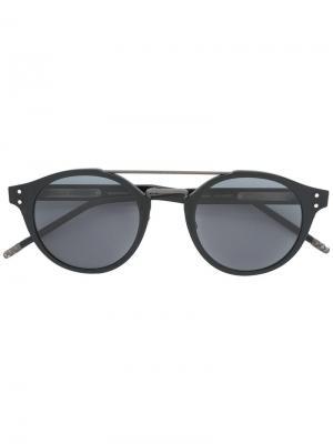 Солнцезащитные очки с круглой оправой Bottega Veneta Eyewear. Цвет: чёрный