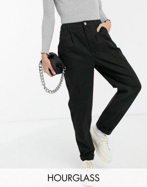 Черные брюки-чиносы Hourglass-Черный ASOS DESIGN