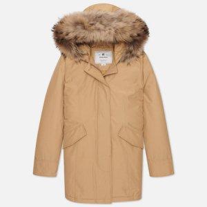Женская куртка парка Arctic Racoon Fur Woolrich. Цвет: бежевый