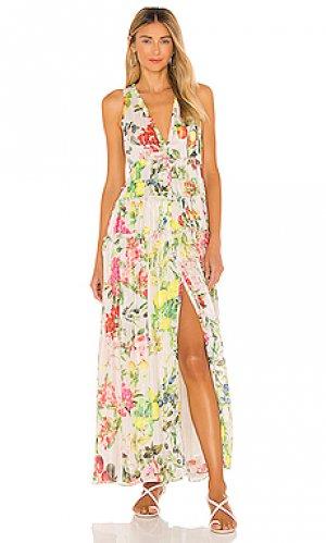 Макси платье lulu ROCOCO SAND. Цвет: белый