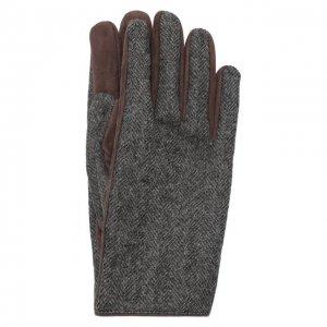 Комбинированные перчатки Brioni. Цвет: серый