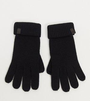Черные перчатки из мериносовой шерсти -Черный цвет AllSaints