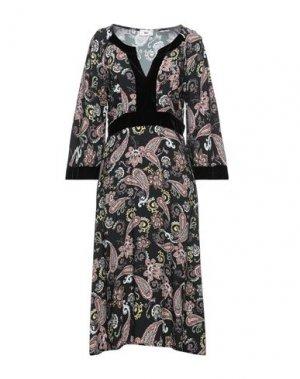 Платье миди B.YU. Цвет: черный