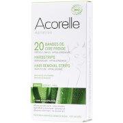 Восковые полоски для лица с алоэ вера и пчелиным воском Ready to Use Aloe Vera and Beeswax Face Strips — 20 шт. Acorelle