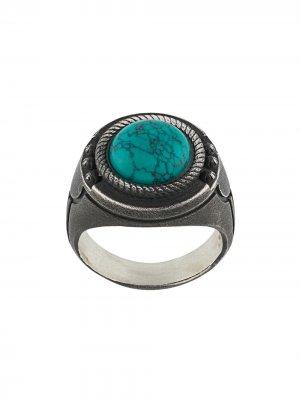 Перстень с декоративным камнем Nove25. Цвет: золотистый