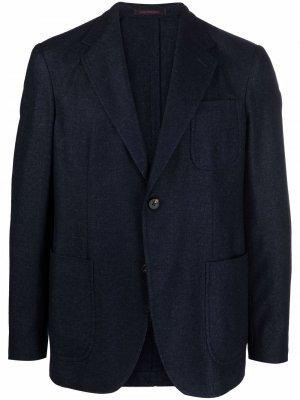 Однобортный пиджак строгого кроя The Gigi. Цвет: синий