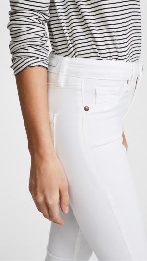 Mid Rise Skinny Ankle Jeans Blank Denim