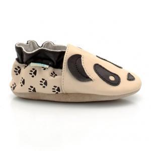 Ботиночки Panda ROBEEZ. Цвет: черно-бежевый