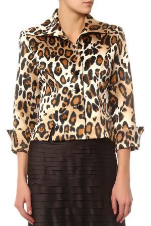 Жакет JS Collections. Цвет: коричневый, леопардовый