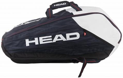 Сумка для 9 ракеток Djokovic Head. Цвет: черный