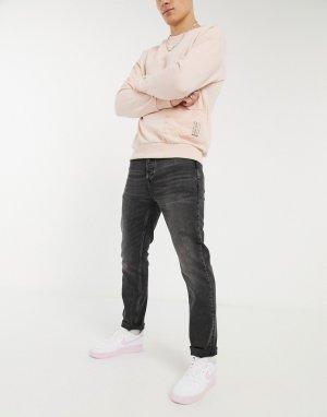 Черные выбеленные джинсы прямого кроя -Светло-бежевый River Island