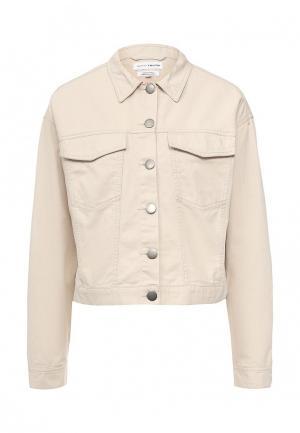 Куртка джинсовая Native Youth. Цвет: бежевый