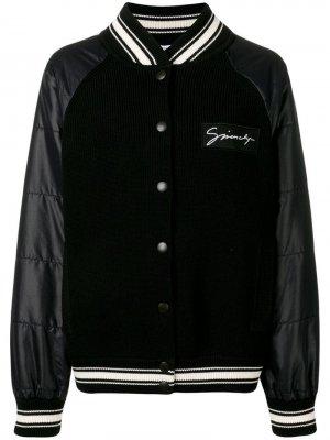 Куртка-бомбер со вставками в рубчик Givenchy
