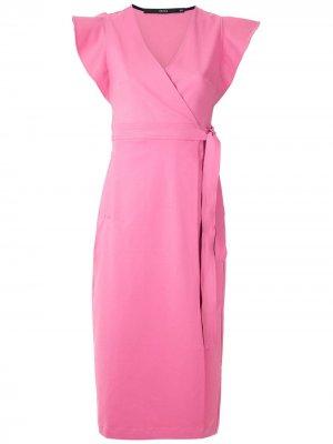 Платье Dalia с оборками на воротнике Eva. Цвет: розовый