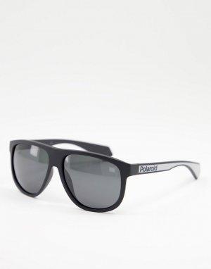 Квадратные солнцезащитные очки -Черный цвет Polaroid